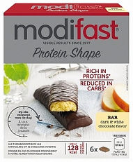 Modifast Protein Shape Reep Pure and Witte Chocolade 6stuks