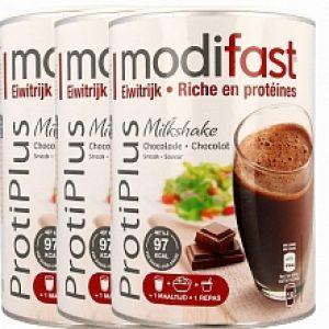 Modifast Protiplus Milkshake Chocolade Voordeelverpakking 3x540gr