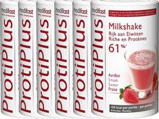 Modifast Protiplus Milkshake Aardbei Voordeelverpakking 6x540gr