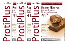 Modifast Protiplus Reep Caramel 3x6stuks