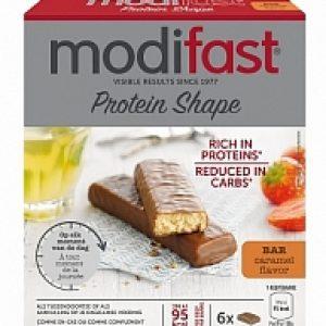 Modifast Protein Shape Reep Caramel 6stuks