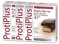 Modifast Protiplus Reep Chocolade Voordeelverpakking 3x6s