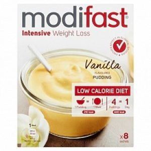 Modifast Intensive Pudding Vanille 8x55gr