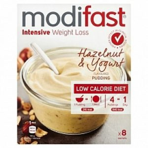 Modifast Intensive Pudding Hazelnoot & Yoghurt 8x52gr