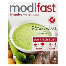 Modifast Intensive Soep Prei-aardappel-spinazie 8x52gr