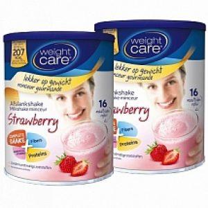 Weight Care Afslankshake Aardbei Duo Voordeelverpakking 2x436gr