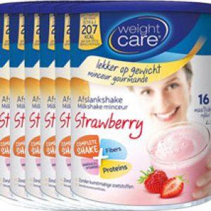 Weight Care Afslankshake Aardbei Voordeelverpakking 6x436gra