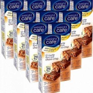 Weight Care 12-uurtjes Maaltijdreep Choco Crisp 10-pack Voordeelverpakking 10x2st