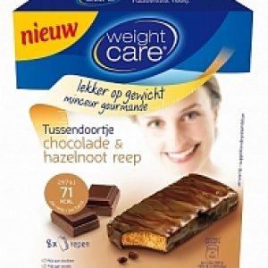 Weight Care Tussendoortje Chocolade Hazelnoot 8stuks
