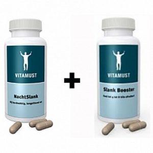 Vitamust Nachtslank + Vitamust Slank Booster Afslankpillen Set