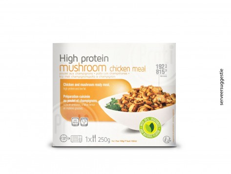 Proteine Kip met champignon schotel
